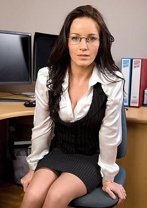 Asian doctor secretary long hair