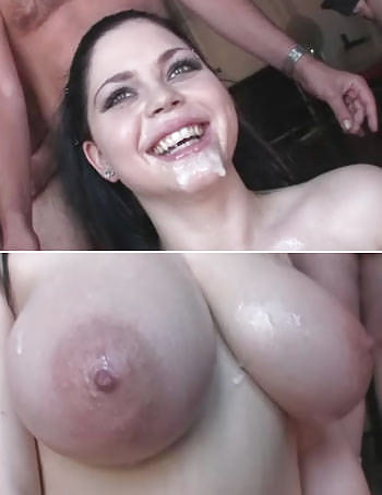 Big nipples bukkake housewife
