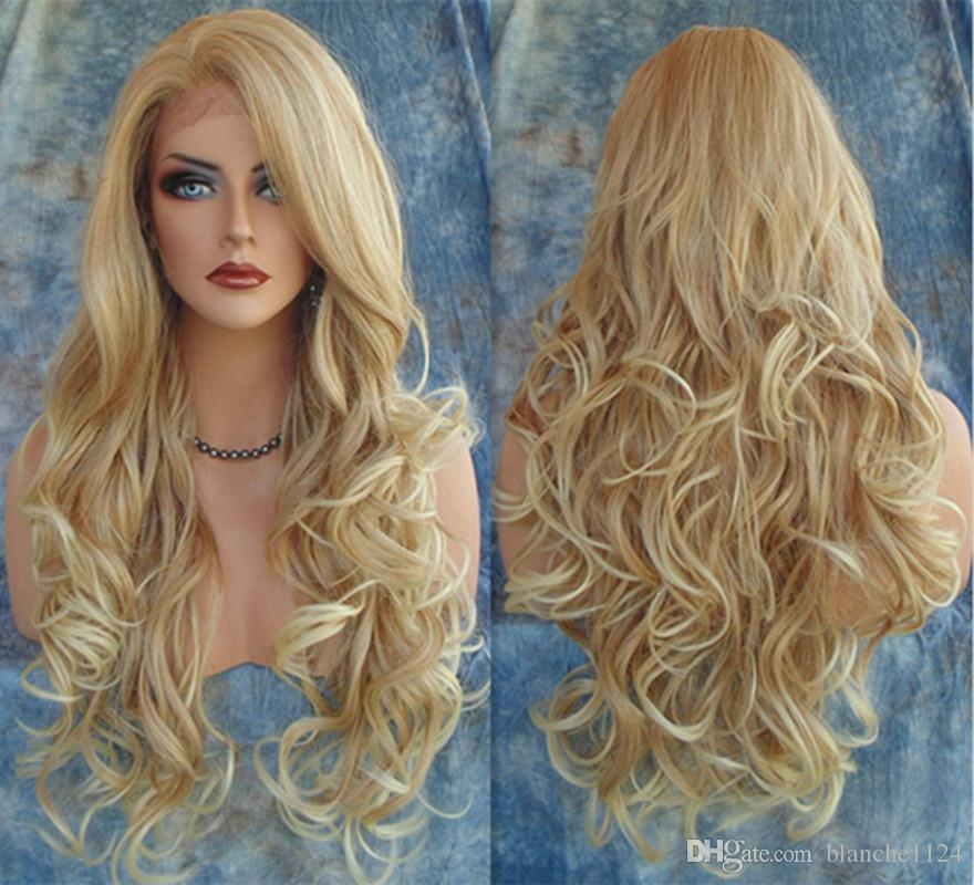 blonde sex Curly long hair