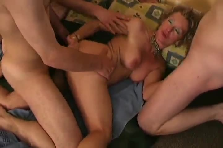 spitroast lingerie foursome blowjob Double