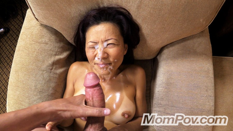 POV cumshot Upskirt asian
