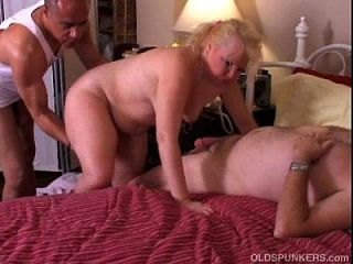 Sissy maid first time double blowjob