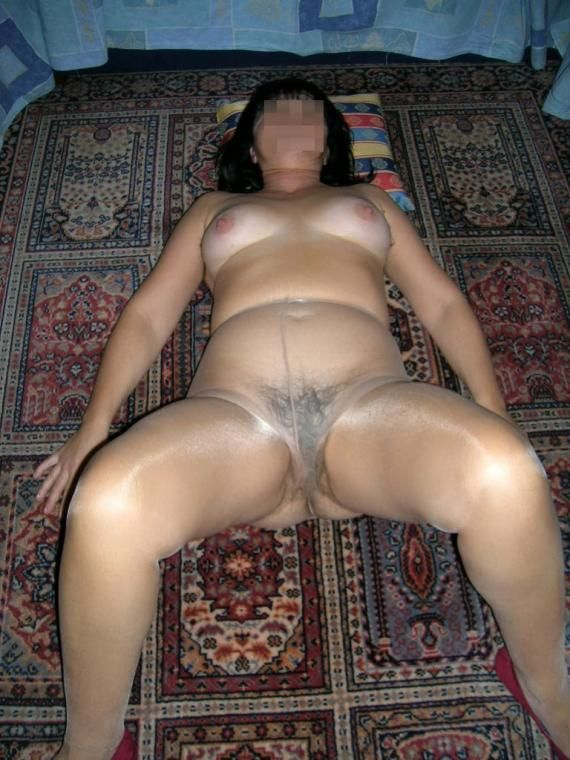 dark Asian haired pantyhose housewife