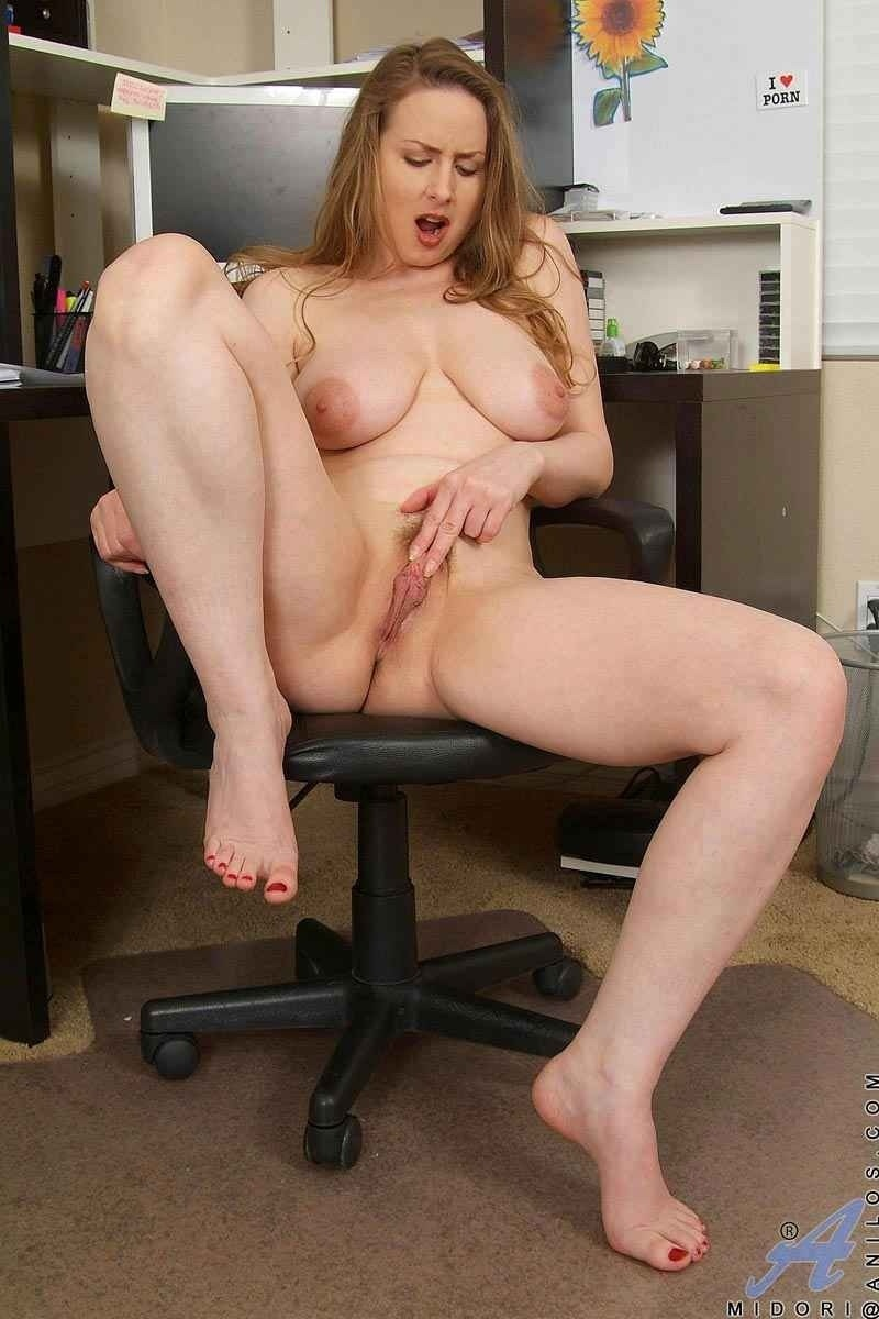 Office preggo glasses tits