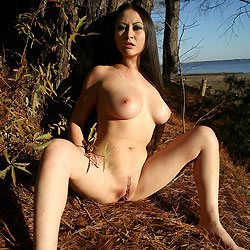 wife Shaved asian outdoor