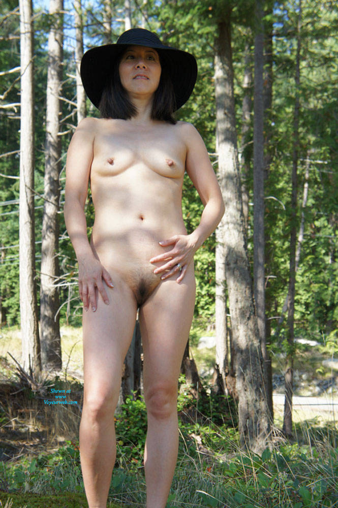 Shaved outdoor wife asian