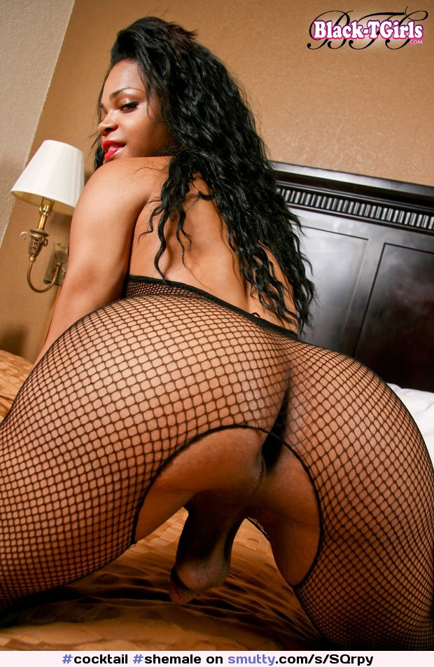 ebony Softcore model fishnet